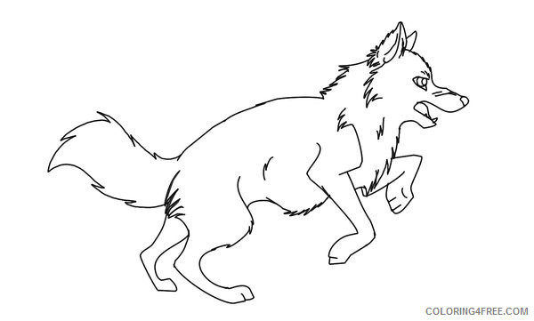 Wolf Coloring Pages Wolves Animal 9 Printable Coloring4free Coloring4free Com