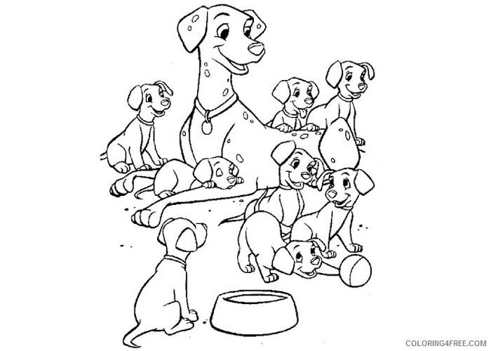 101 Dalmatians Coloring Pages Cartoons 101 Dalmatian Puppies Printable 2020 02 Coloring4free Coloring4free Com