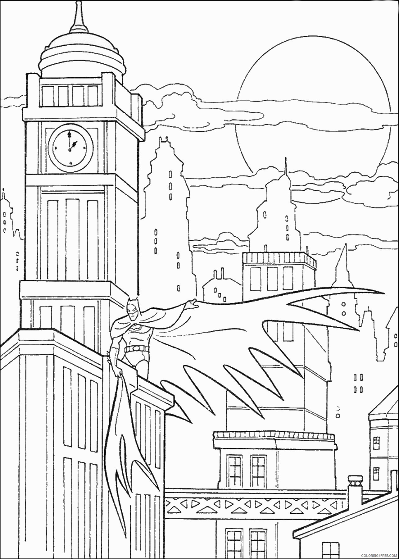 Batman Coloring Pages Superheroes Printable 2020 Coloring4free