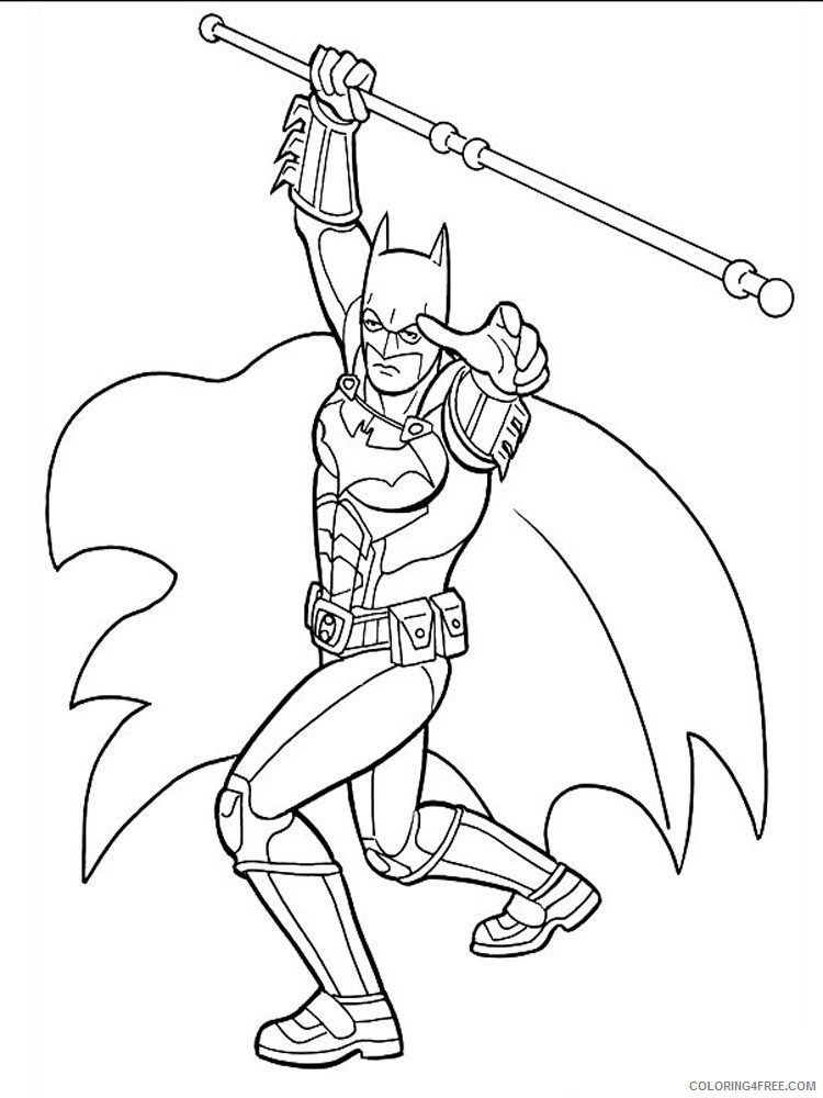 Batman and Robin Coloring Pages Superheroes Printable 2020 Coloring4free