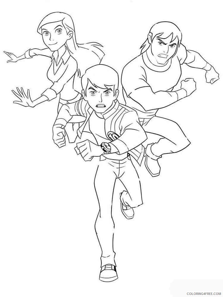 Ben 10 Coloring Pages Cartoons Ben10 5 Printable 2020 1280 Coloring4free -  Coloring4Free.com