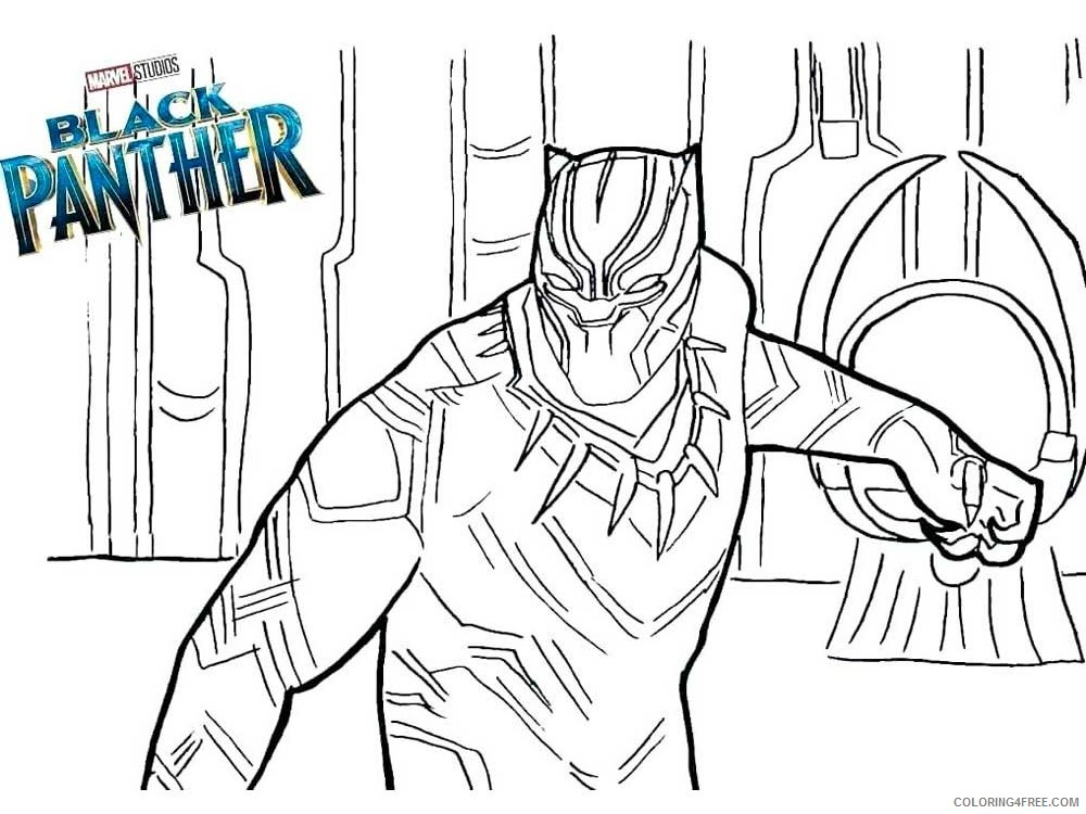 Black Panther Coloring Pages Superheroes Printable 2020 Coloring4free