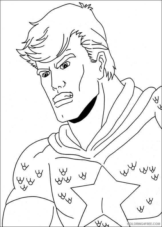 Captain America Coloring Pages Superheroes Printable 2020 Coloring4free