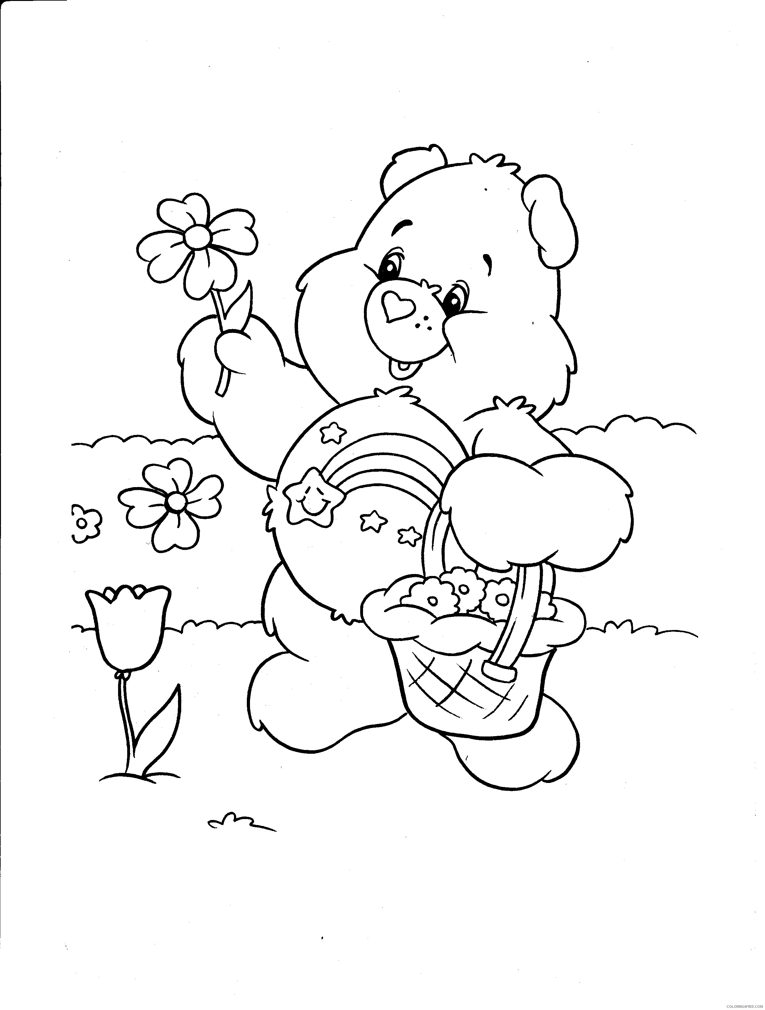 Care Bears Coloring Pages Cartoons Free Care Bear Printable 2020 1608 Coloring4free Coloring4free Com