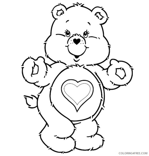 - Care Bears Coloring Pages Cartoons Tenderheart Bear Is Excited In Care Bear  Printable 2020 1614 Coloring4free - Coloring4Free.com