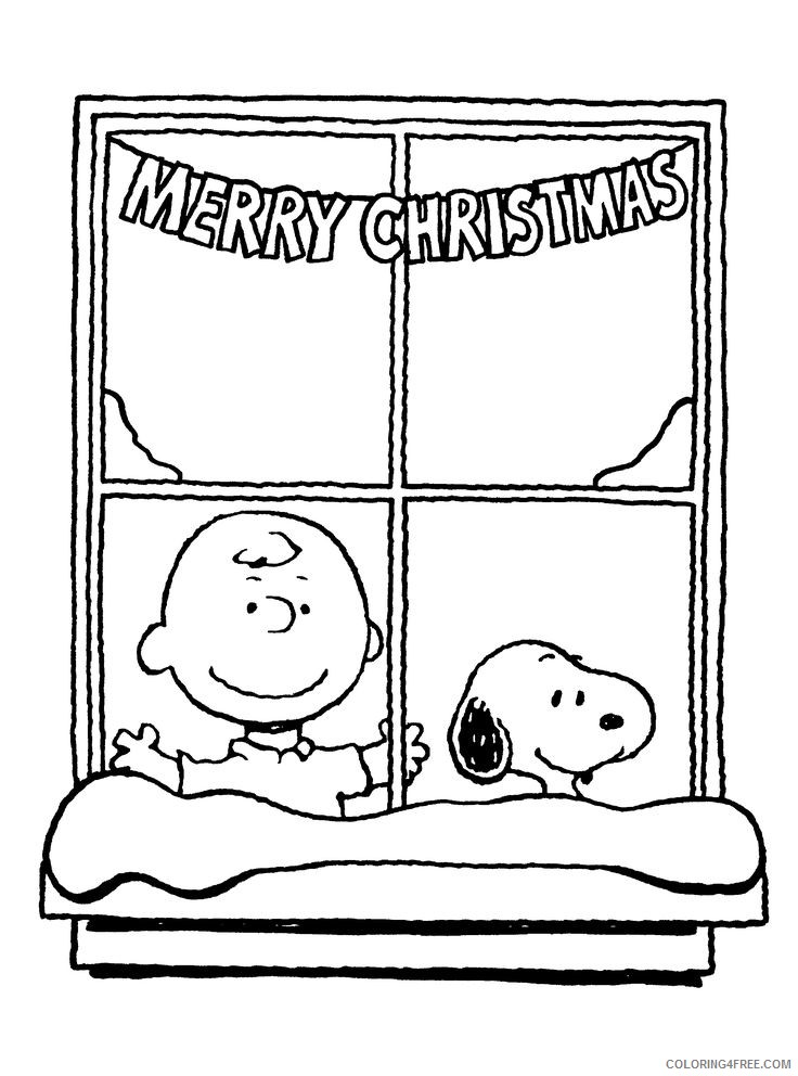 Charlie Brown Coloring Pages Cartoons Charlie Brown Christmas Sheet Printable 2020 1624 Coloring4free Coloring4free Com
