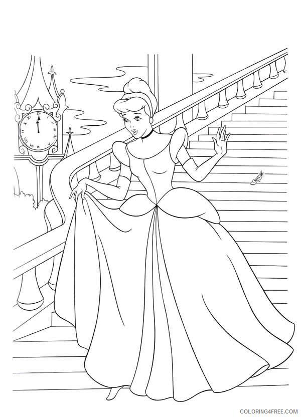Cinderella Coloring Pages Cartoons Free Cinderella Printable 2020 1786 Coloring4free Coloring4free Com
