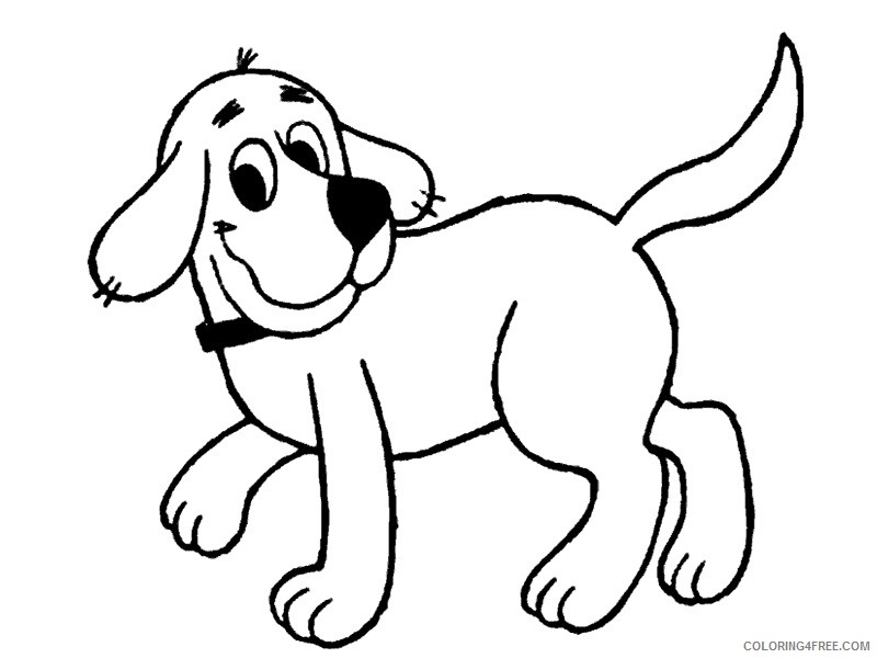 Clifford The Big Red Dog Coloring Pages Cartoons Clifford 1 2 Printable 2020 1809 Coloring4free Coloring4free Com