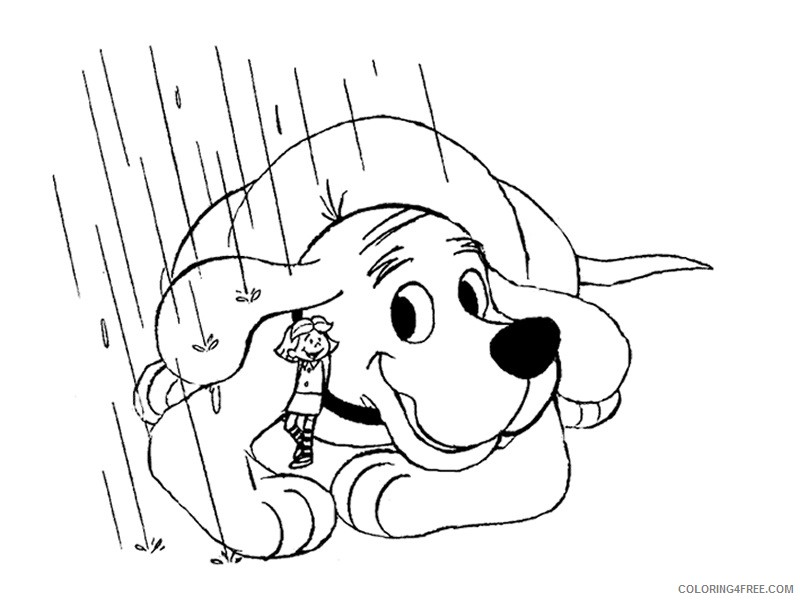 Clifford The Big Red Dog Coloring Pages Cartoons Clifford 9 2 Printable  2020 1831 Coloring4free - Coloring4Free.com