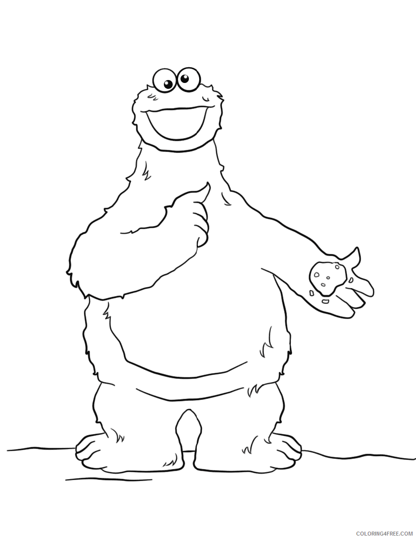 Cookie Monster Coloring Pages Cartoons 1545446145_cookie monster Printable  2020 1839 Coloring4free - Coloring4Free.com