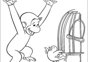 curious george coloring pages with butterflies Coloring4free ... | 210x296