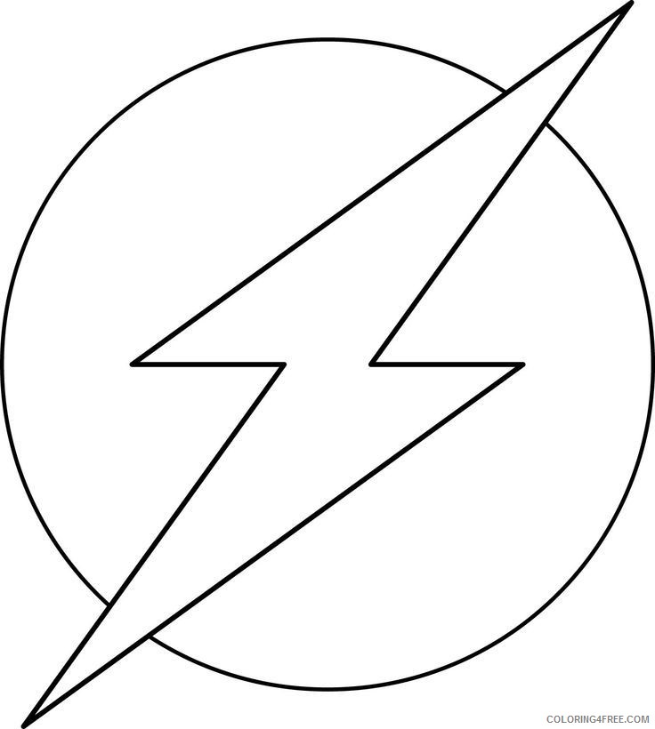 DC Comics Flash Coloring Pages Superheroes Printable 2020 Coloring4free