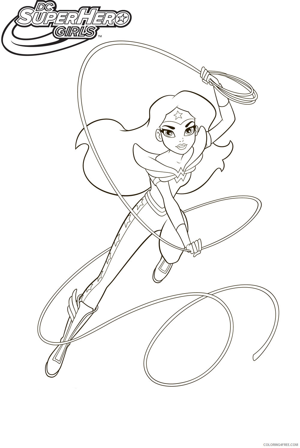 DC Super Hero Girls Coloring Pages Superheroes Printable 2020 Coloring4free