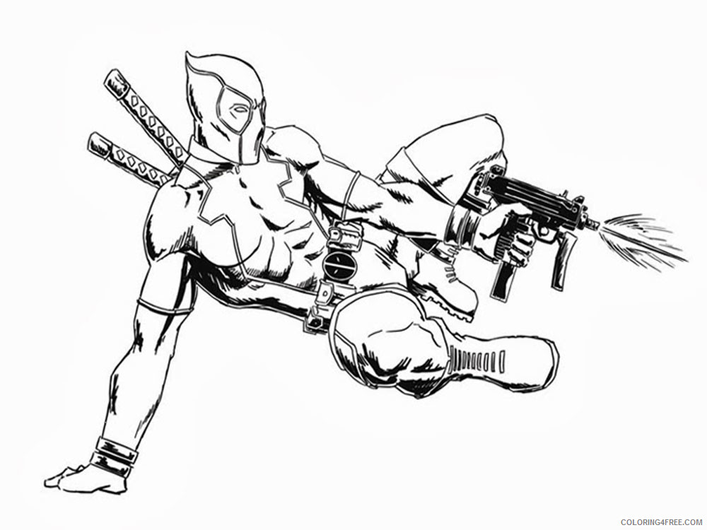 Deadpool Coloring Pages Superheroes Printable 2020 Coloring4free
