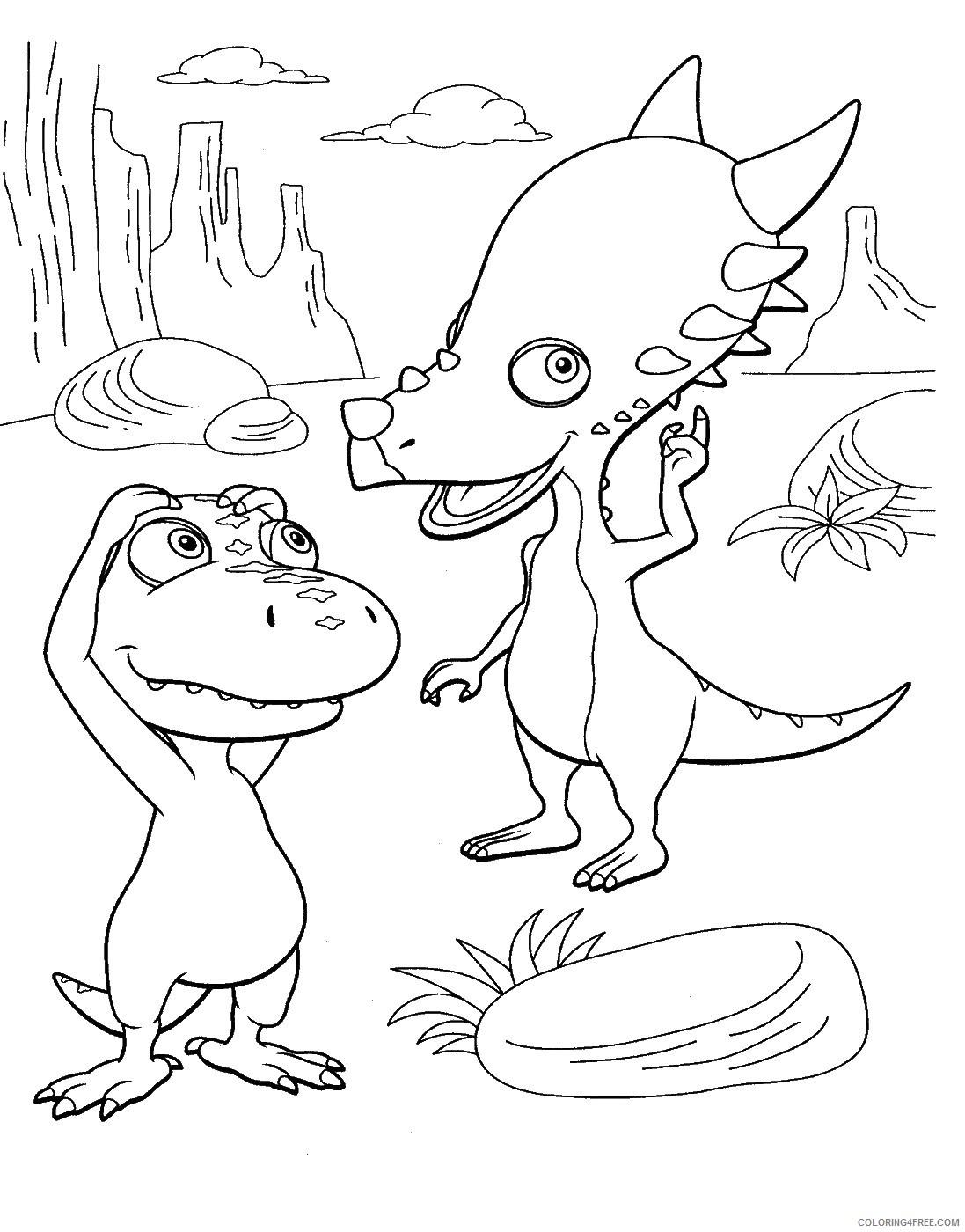 Dinosaur Train Coloring Pages Cartoons Dino Train 71 Printable 2020 2206 Coloring4free Coloring4free Com