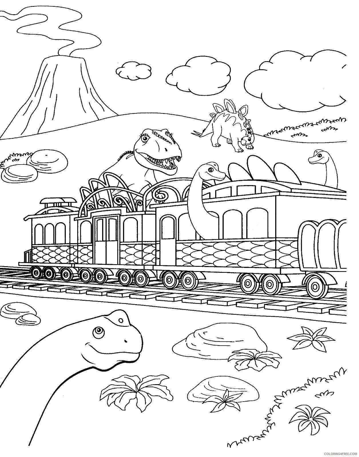 Dinosaur Train Coloring Pages Cartoons Dino Train Cl 19 Printable 2020 2240 Coloring4free Coloring4free Com