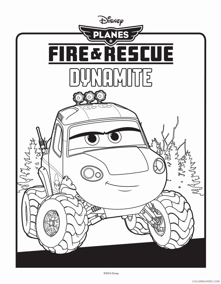 Disney Planes Coloring Pages Cartoons planes fire and rescue