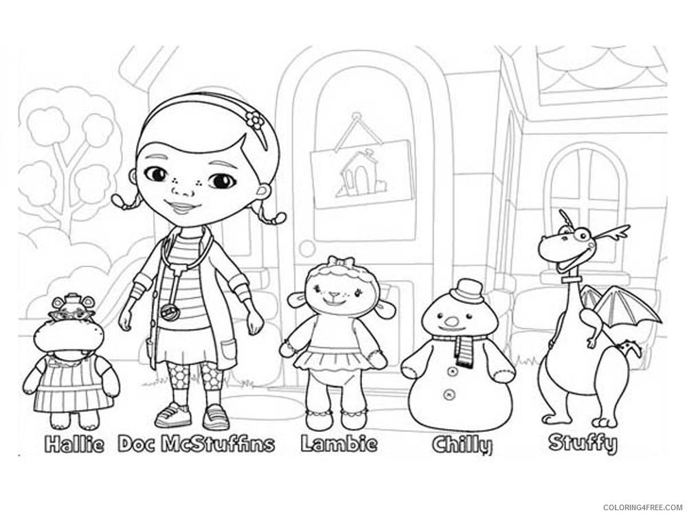 Doc Mcstuffins Coloring Pages Cartoons Doc Mcstuffins 14 Printable 2020 2439 Coloring4free Coloring4free Com