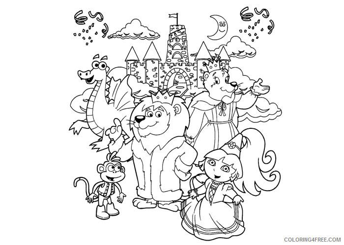 Dora The Explorer Coloring Pages Cartoons Dora Fairytale Printable 2020  2660 Coloring4free - Coloring4Free.com