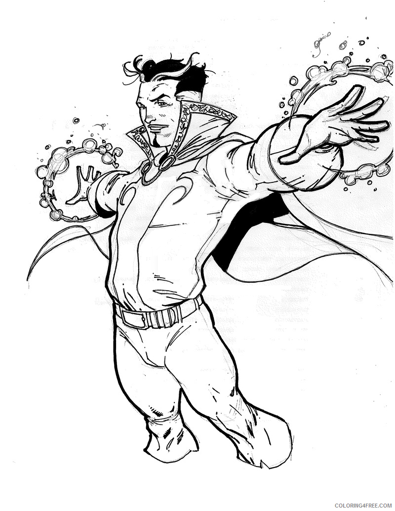 Dr Strange Coloring Pages Superheroes Printable 2020 Coloring4free