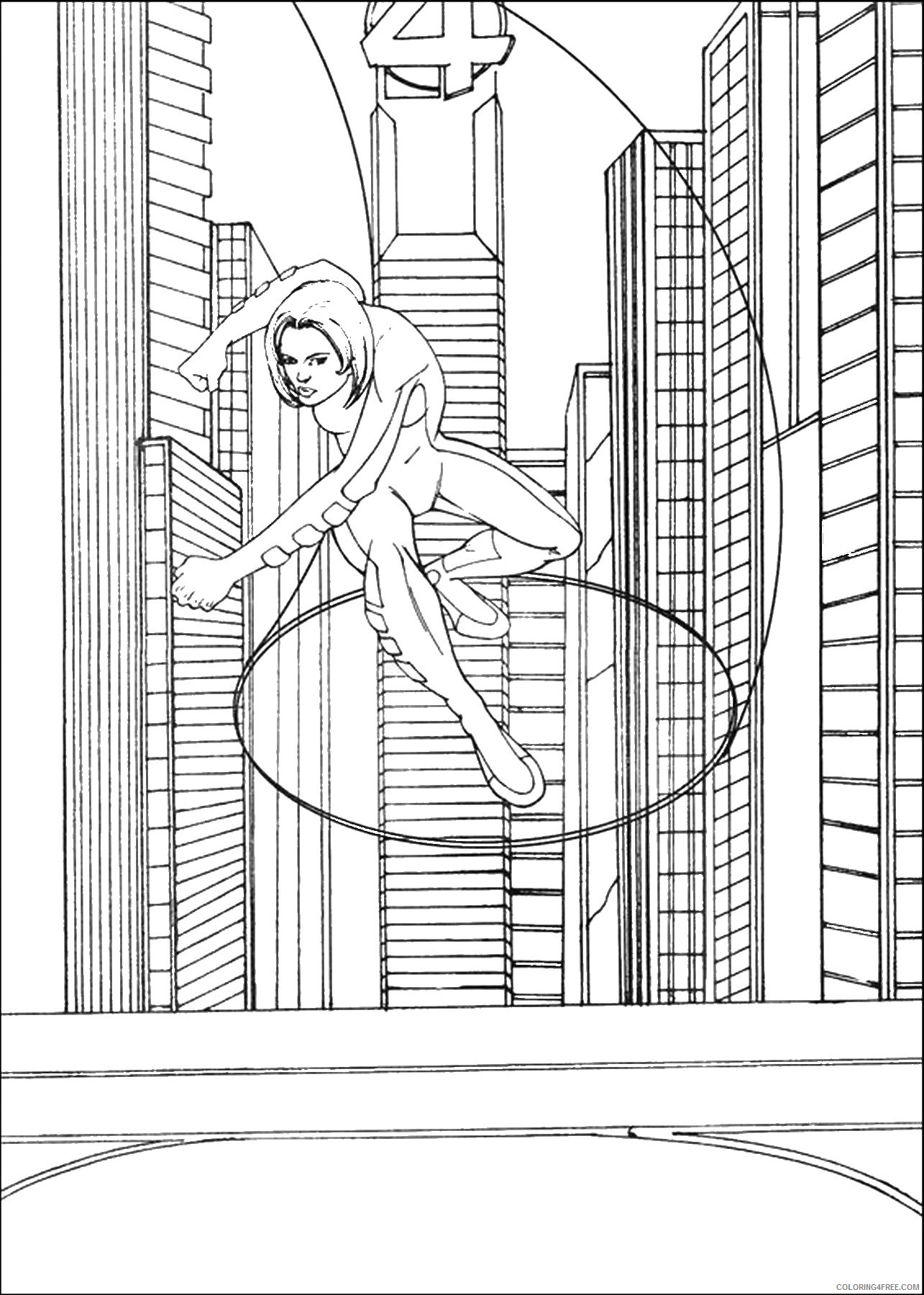 Fantastic Four Coloring Pages Superheroes Printable 2020 Coloring4free