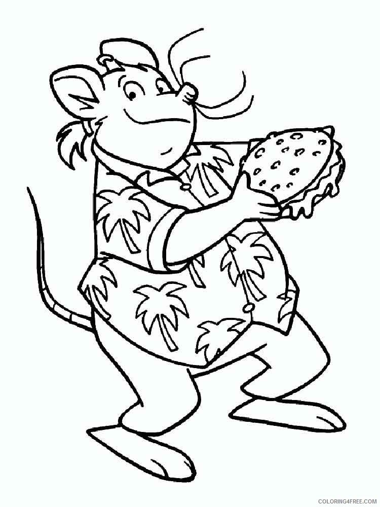 Geronimo Stilton Coloring Pages Cartoons geronimo stilton 10 Printable 2020 2866 Coloring4free