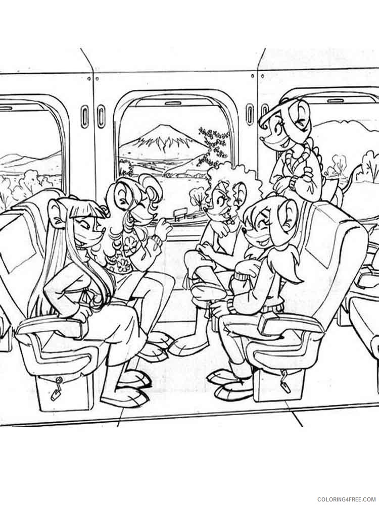 Geronimo Stilton Coloring Pages Cartoons geronimo stilton 4 Printable 2020 2869 Coloring4free
