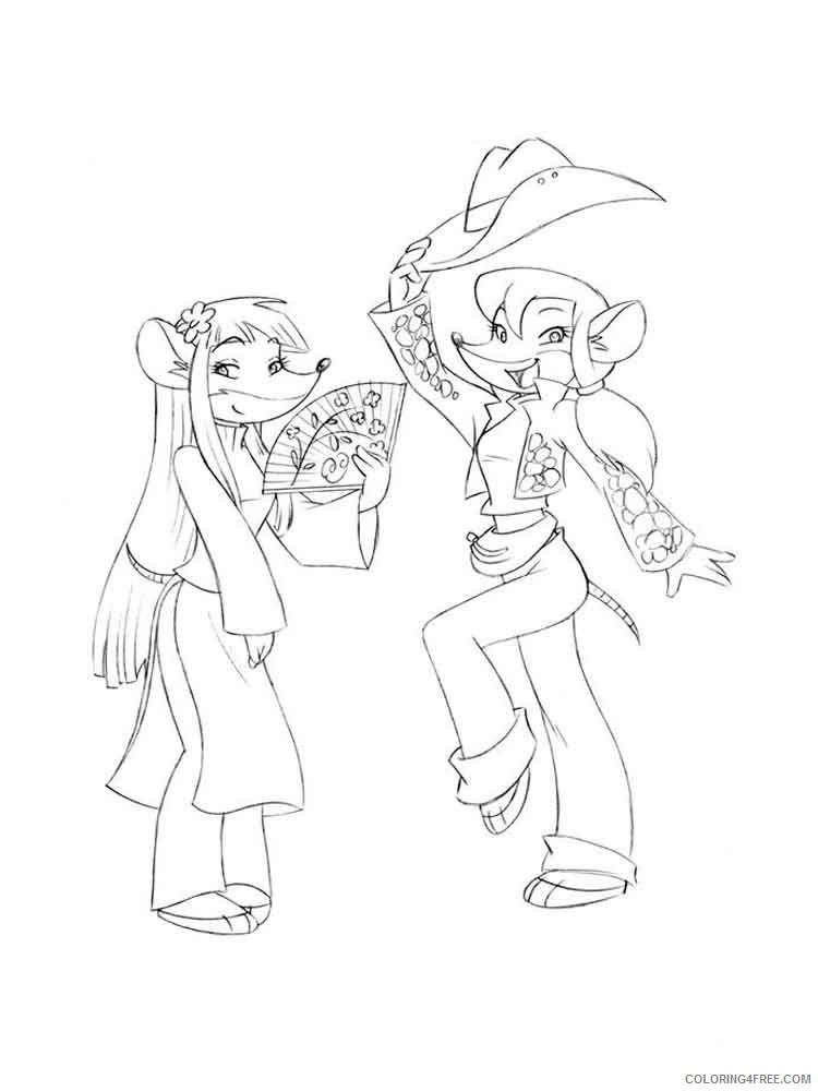 Geronimo Stilton Coloring Pages Cartoons geronimo stilton 6 Printable 2020 2871 Coloring4free