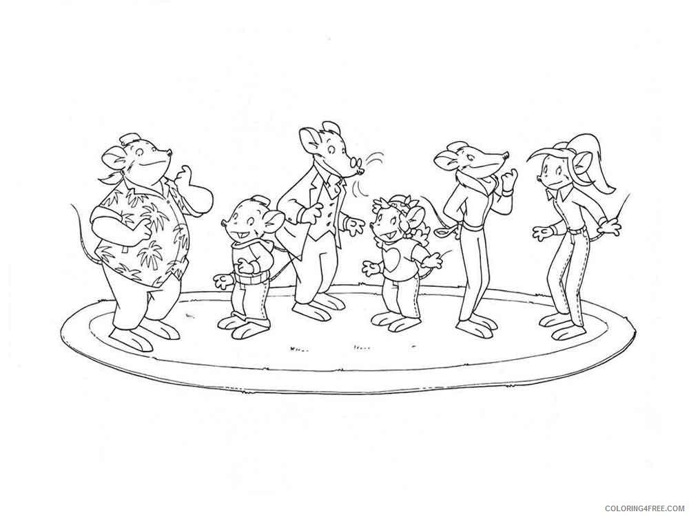 Geronimo Stilton Coloring Pages Cartoons geronimo stilton 7 Printable 2020 2872 Coloring4free