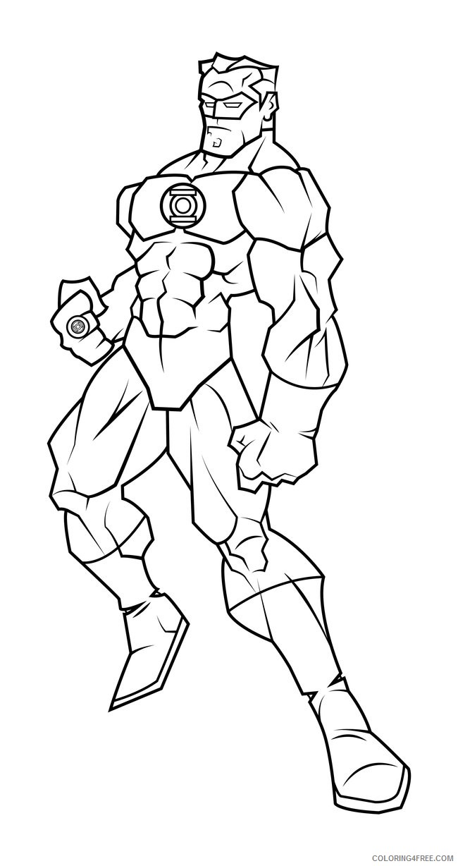 Green Lantern Coloring Pages Superheroes Printable 2020 Coloring4free