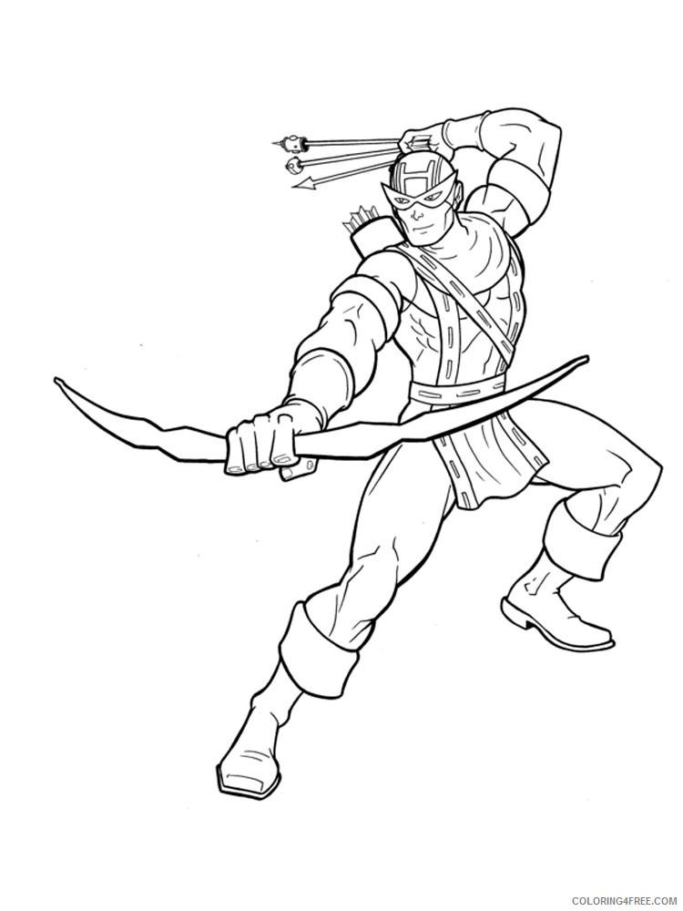 Hawkeye Coloring Pages Superheroes Printable 2020 Coloring4free