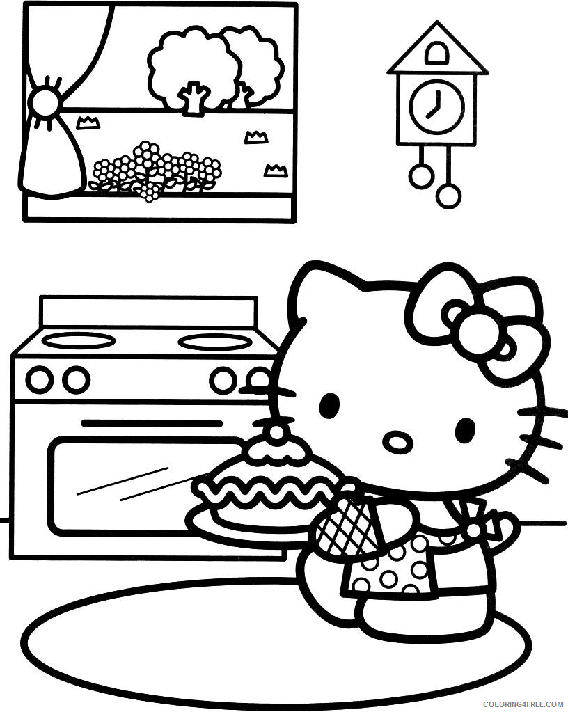 Hello Kitty Coloring Pages Cartoons Hello Kitty Sheets For Girls Printable 2020 3283 Coloring4free Coloring4free Com