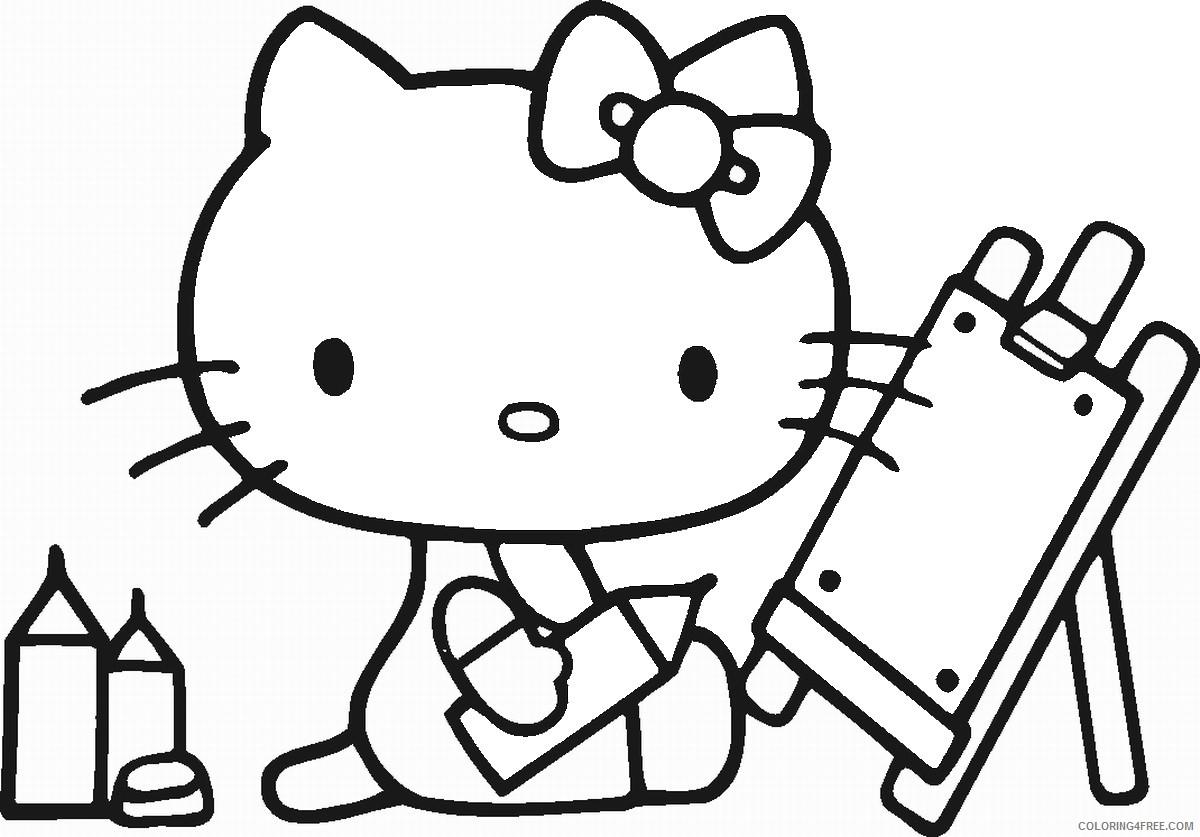 hello kitty ausmalbilder pdf  hello kitty coloring pages