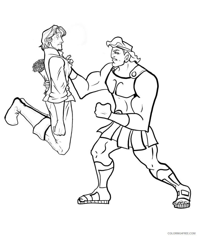 Hercules with Philoctetes Coloring Page - Free Hercules Coloring Pages :  ColoringPages101.com | 977x817