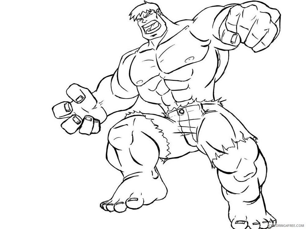 Hulk Coloring Pages Superheroes Printable 2020 Coloring4free