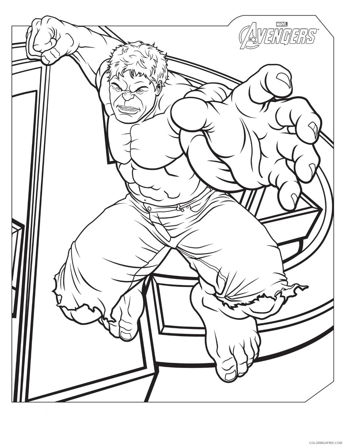 Hulk Coloring Pages Superheroes Printable 2020 Coloring4free