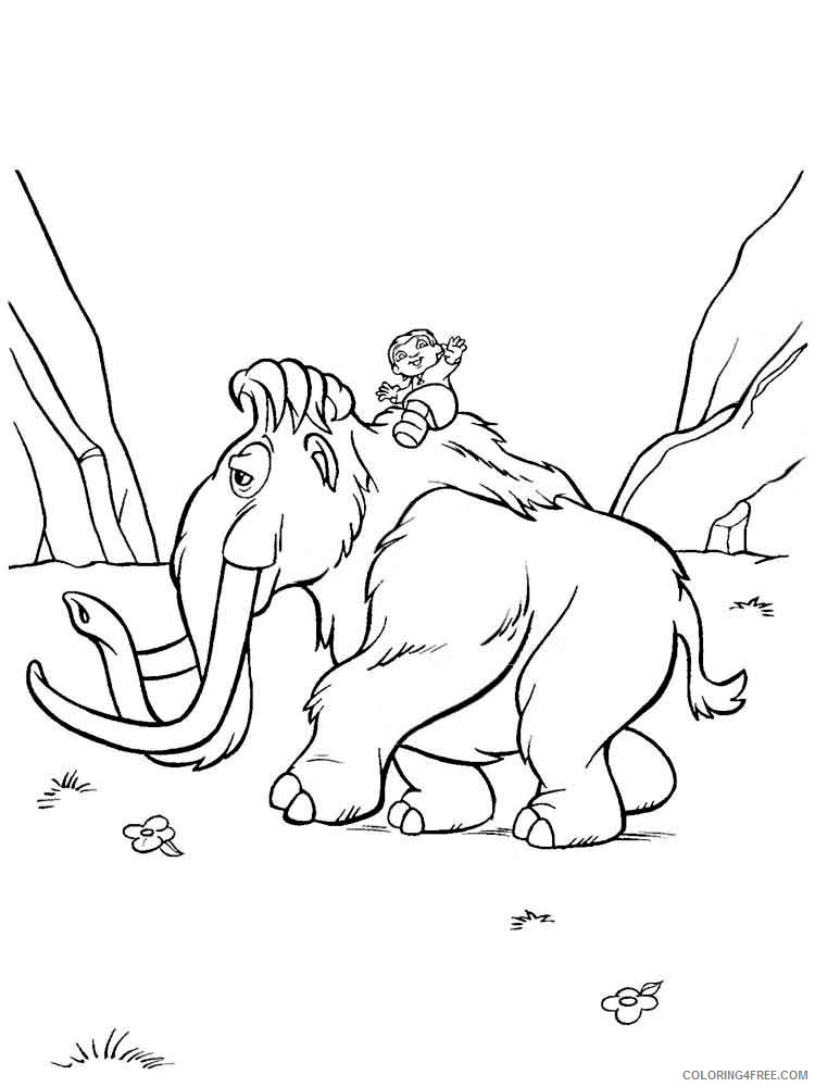 Ice Age Coloring Pages Cartoons Ice Age 12 Printable 2020 3425 Coloring4free Coloring4free Com