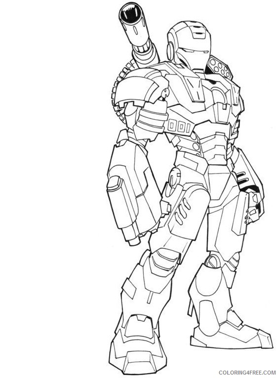 Iron Man Coloring Pages Superheroes Printable 2020 Coloring4free Coloring4free Com