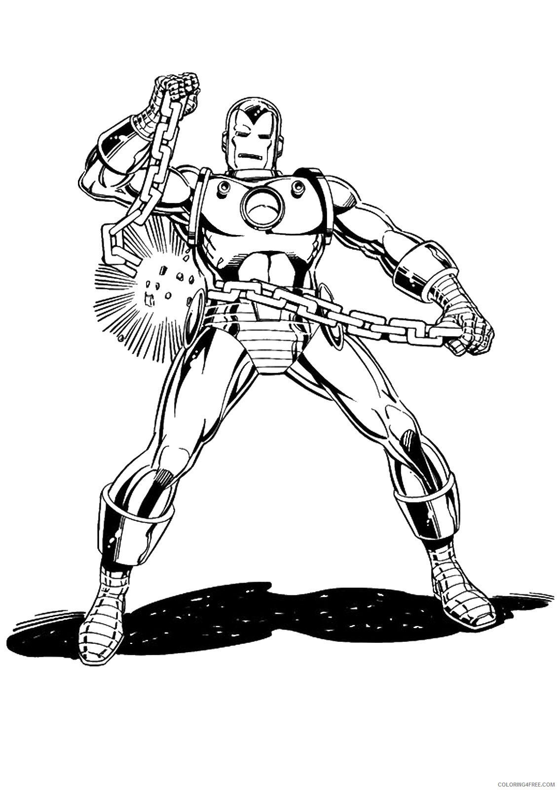 Iron Man Coloring Pages Superheroes Printable 2020 Coloring4free