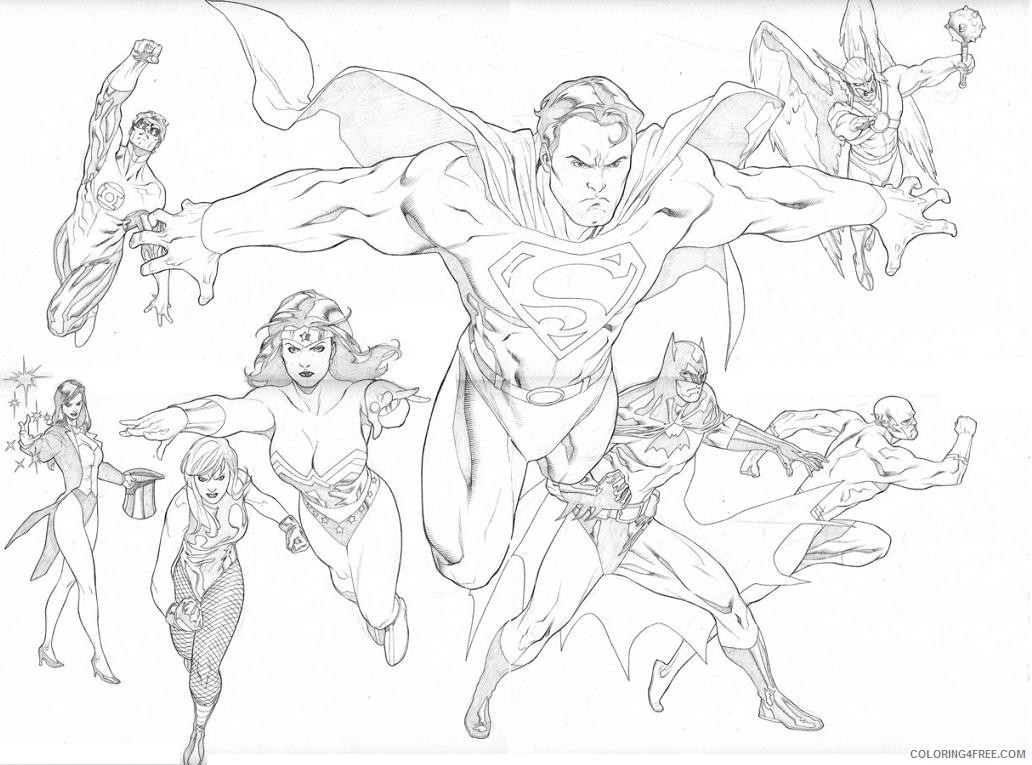 Justice League Coloring Pages Superheroes Printable 2020 Coloring4free Coloring4free Com