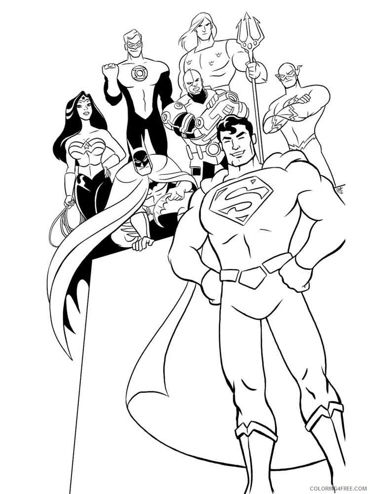 Justice League Coloring Pages Superheroes Printable 2020 Coloring4free