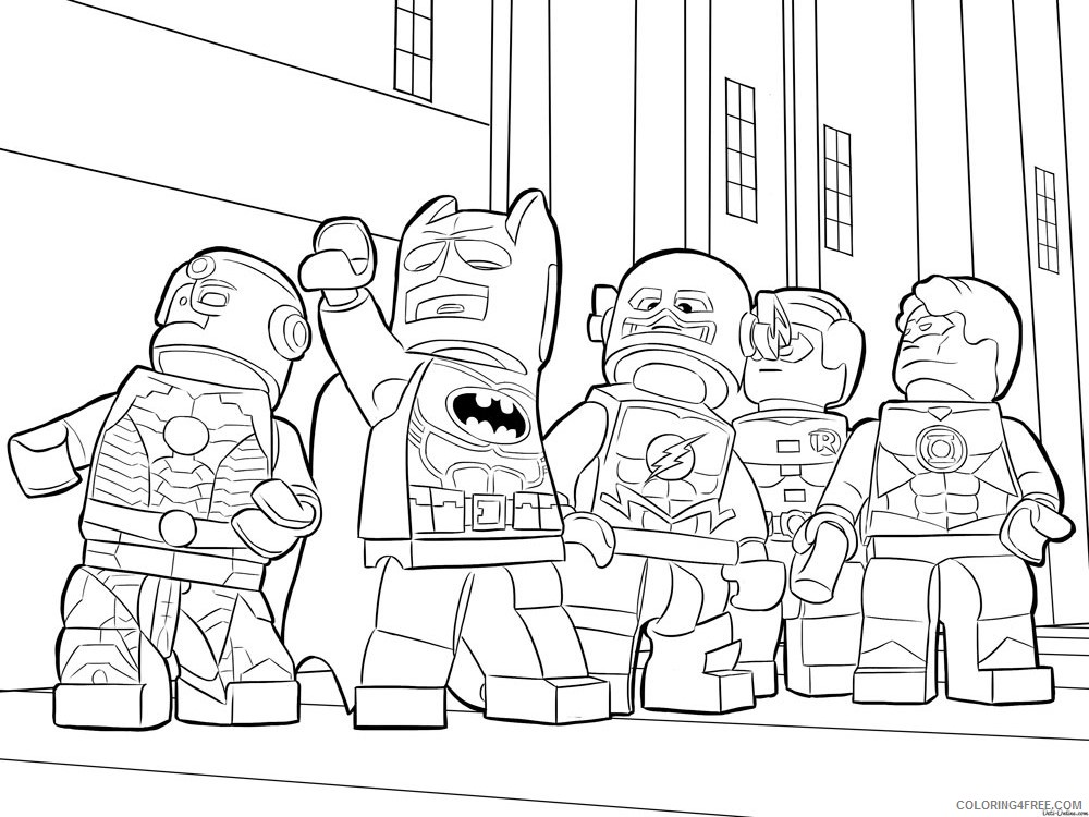 LEGO Batman Coloring Pages Cartoons lego batman for boys 13 Printable 2020 3718 Coloring4free