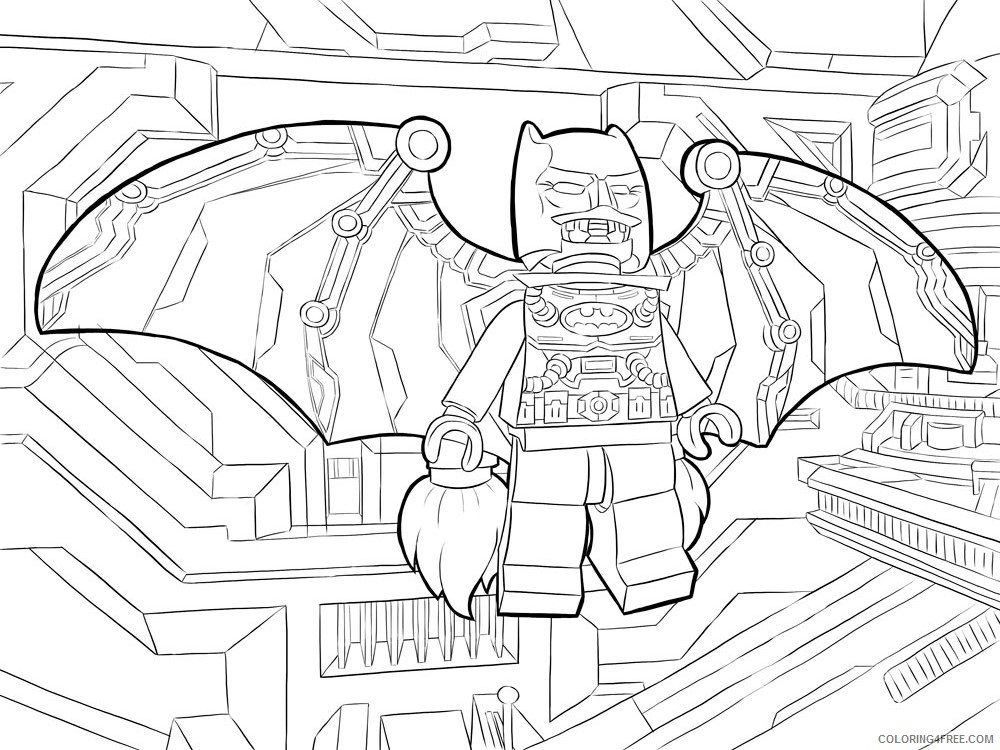 LEGO Batman Coloring Pages Cartoons lego batman for boys 2 Printable 2020 3719 Coloring4free