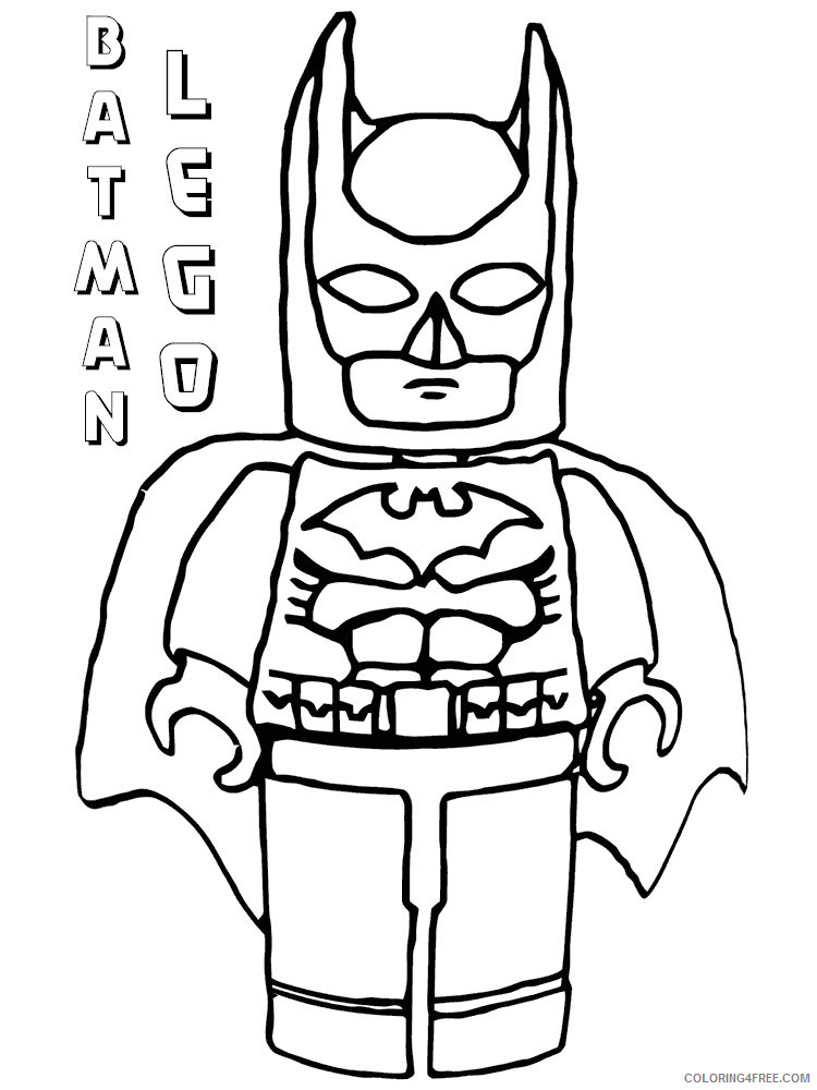LEGO Batman Coloring Pages Cartoons lego batman for boys 5 Printable 2020 3721 Coloring4free