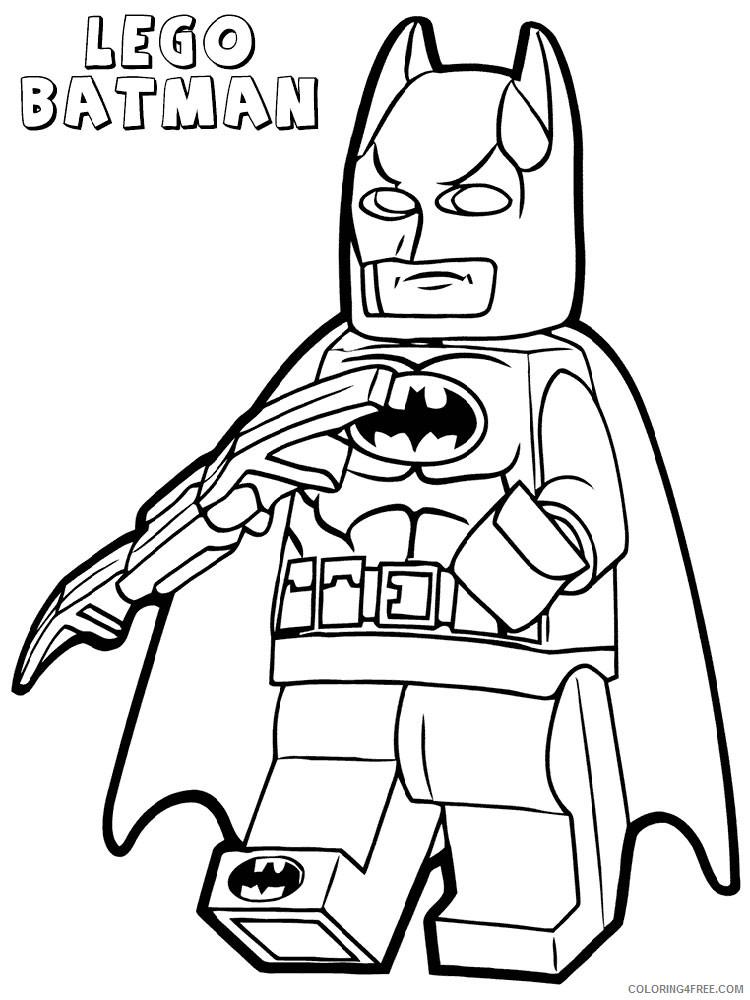 LEGO Batman Coloring Pages Cartoons lego batman for boys 6 Printable 2020 3722 Coloring4free