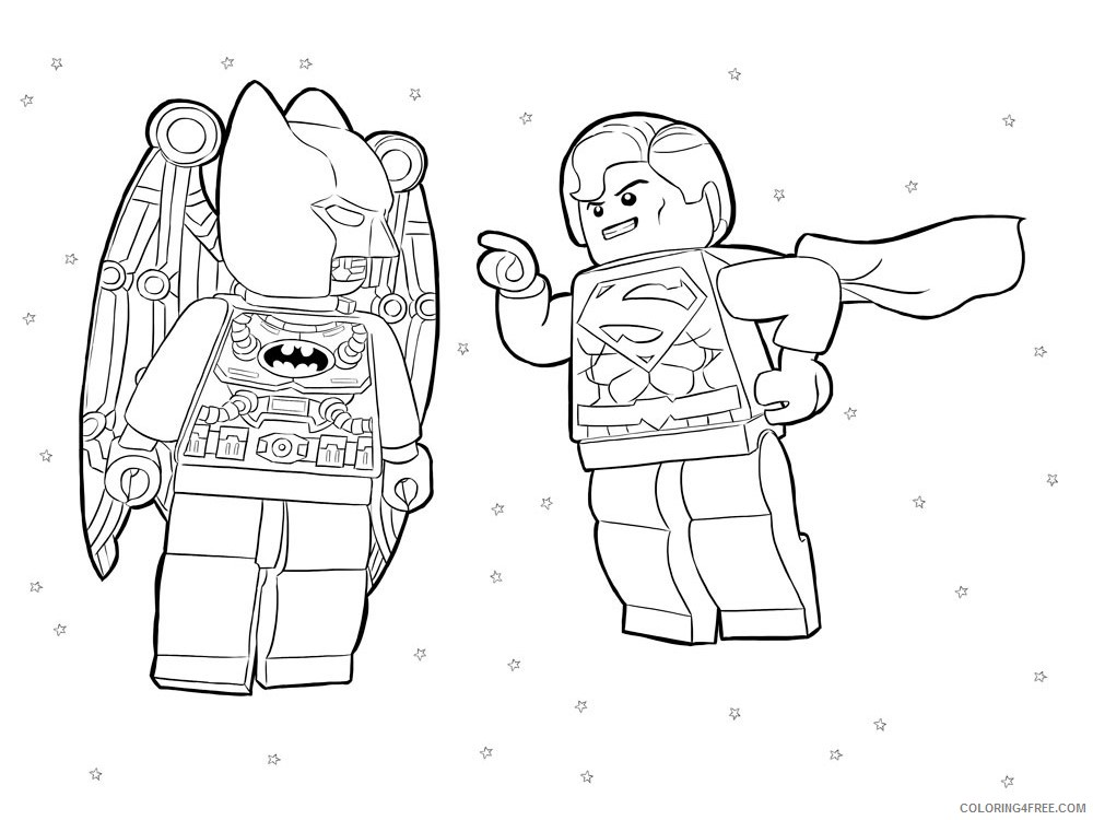 LEGO Batman Coloring Pages Cartoons lego batman for boys 8 Printable 2020 3724 Coloring4free