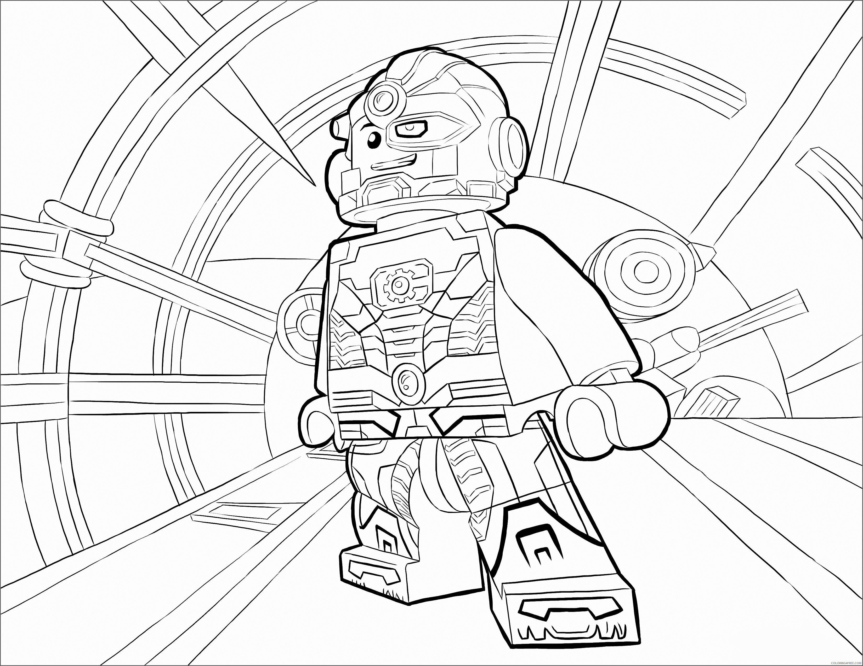 Lego Marvel Coloring Pages Cartoons Superhero Printable 2020 3761 Coloring4free Coloring4free Com