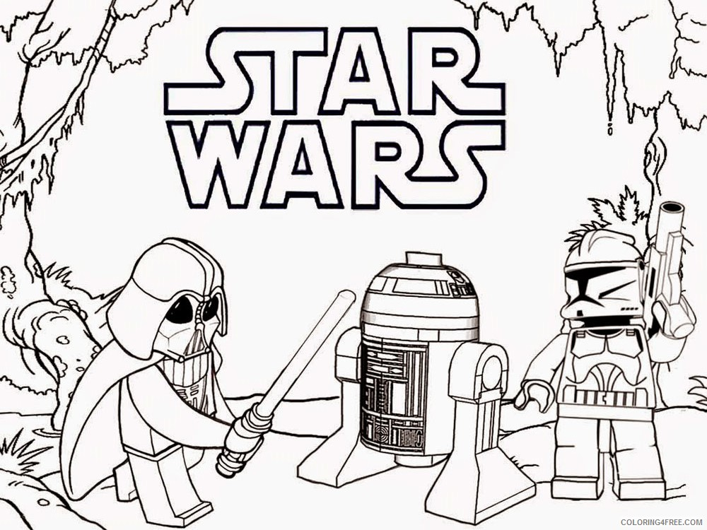 - LEGO Star Wars Coloring Pages Cartoons Lego Star Wars For Boys 13 Printable  2020 3775 Coloring4free - Coloring4Free.com