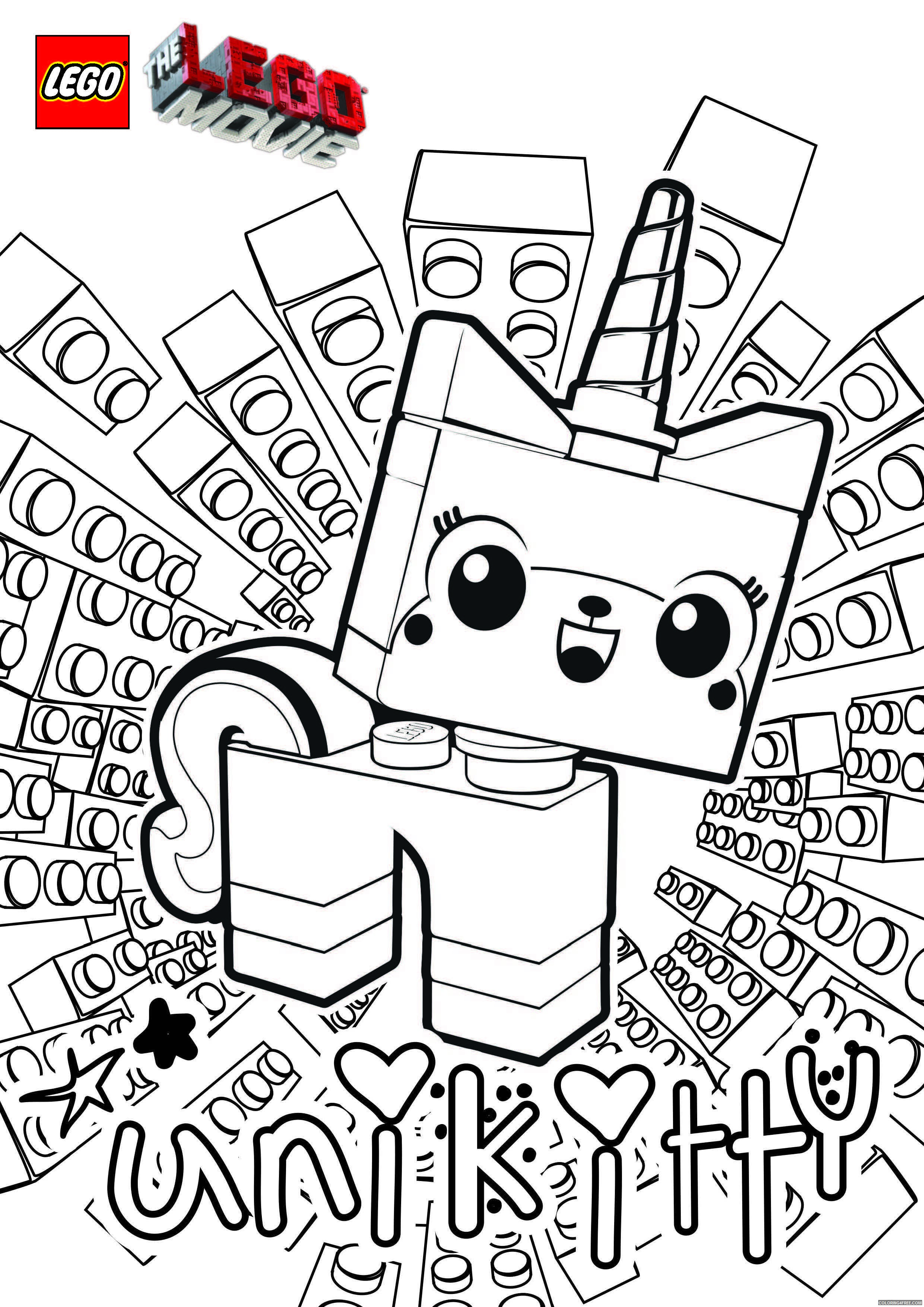 LEGO Unikitty Coloring Pages Cartoons UniKitty Lego Movie Printable 2020 3784 Coloring4free