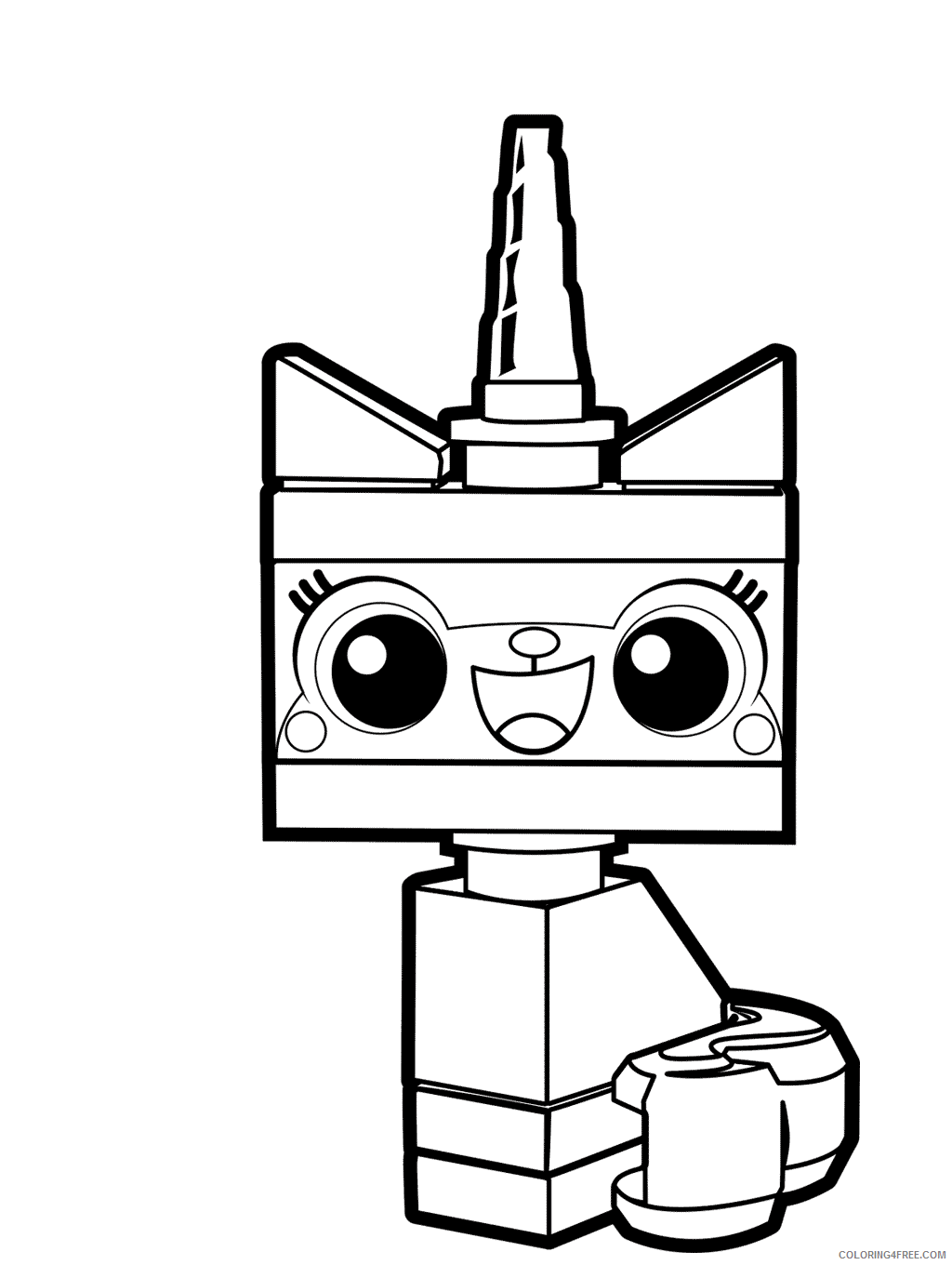 LEGO Unikitty Coloring Pages Cartoons Unikitty Lego Movie Printable 2020 3785 Coloring4free